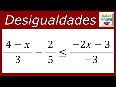 Desigualdad lineal