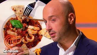 Joe Bastianich Critiques Italian Dishes   MasterChef Canada   MasterChef World