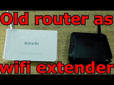 Use your old router as WIFI extender (with simple steps)