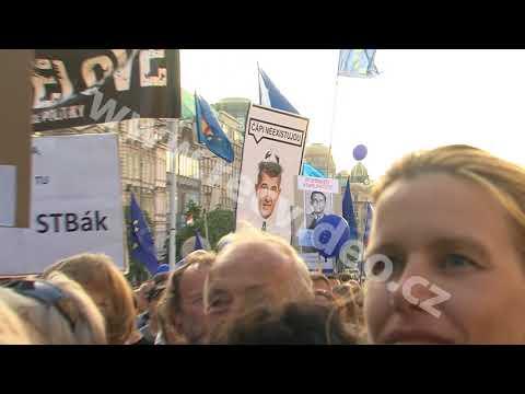 ČR - Praha - Andrej Babiš - hnutí ANO - vláda - demonstrace - Milion chvilek pro demokracii