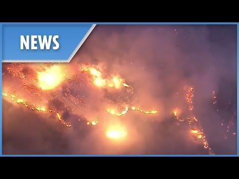 Wildfires tear through Ventura County, California