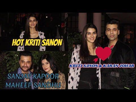 Hot Kriti Sanon & Karan Johar & Other Celebs Sanjay Kapoor Spotted Soho Juhu
