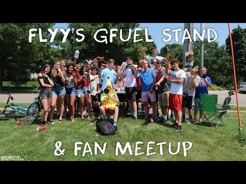 THE GFUEL LEMONADE STAND | FAN MEETUP (COPS CAME)