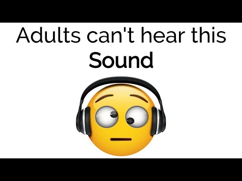 Adults can't hear this sound