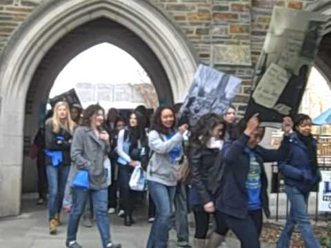 March through the arch -- Duke MLK Day 2012
