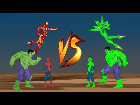 Hulk - Spiderman - Ironman VS Blue Hulk - Blue Spiderman - Blue Ironman [HD] | SUPER HEROES MOVIE