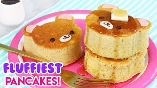 How to Make SUPER FLUFFY Japanese Style Bear Pancakes!