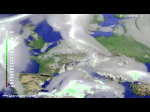 Precipitation forecast Europe 2015-10-06