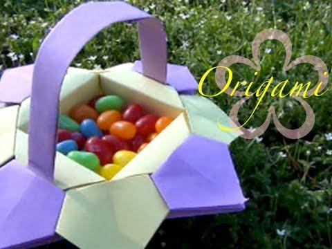 Origami: MeiIris' Easter Origami Basket Tutorial