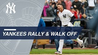 The Yankees stun the Indians with a rally in the 9th