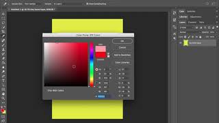 Adobe Photoshop layers and fill color