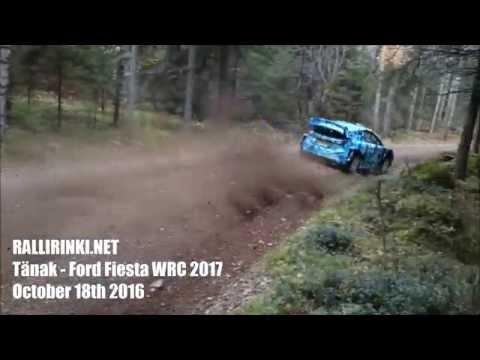 Ford Fiesta Rs Wrc 2017 Ott Tanak Test Day In Finland Wrchd Com