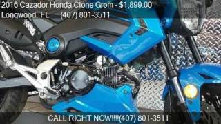 9. 2016 Cazador Honda Clone Grom Grom for sale in Longwood, FL