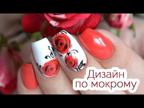 Розы на ногтях гель лаком