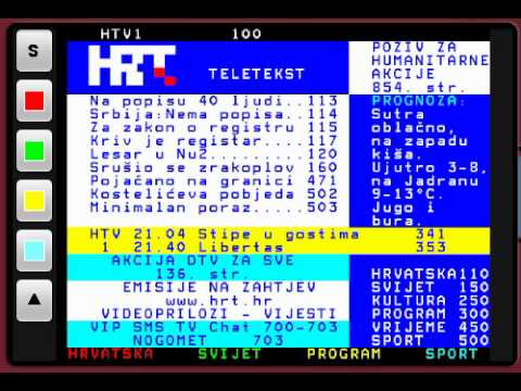 Video of HRT Teletext