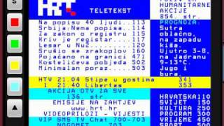 HRT Teletext YouTube video