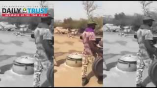 Footage of Nigerian soldiers fighting insurgency cooking jollof rice