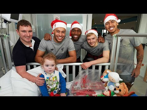 Liverpool FC Squad Make 2018 Christmas Visit To Alder Hey Children's Hospital