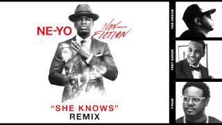 Read and translate Ne-Yo - She Knows (Remix) (feat. The-Dream, Trey Songz & T-Pain) lyrics.   [Verse 1: The-Dream], What's up with that rabbit?, What's up with that rabbit?, She good well if...