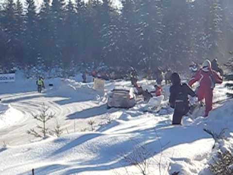 Rally Sweden - Kimi Räikkönen Crash On