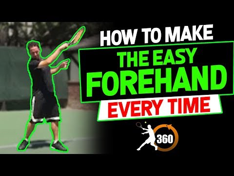 Forehand Tennis Technique | How To Make The Easy Forehand Every Time (powerful)