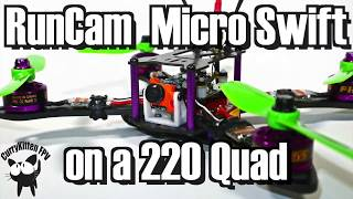 A follow-up test to the RunCam Micro Swift review where I flew it on a plane, this time I mount it on a 220 sized quad.This camera was kindly provided for review by Banggood.com.  Here is the (affiliate) link to it http://bit.ly/2spU61bI'll be back with some more video featuring this new build - as I used a few new components, but I've also documented this build on my blog http://www.currykitten.co.ukAs soon as I get the 2.3mm version of the camera I'll attempt to put some side-by-side footage up of the same run.
