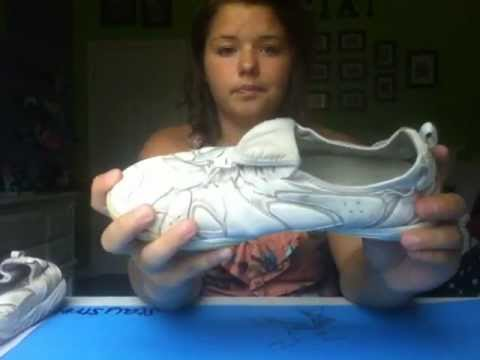 how to whiten nfinity cheer shoes
