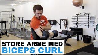 Armtræning med biceps curl