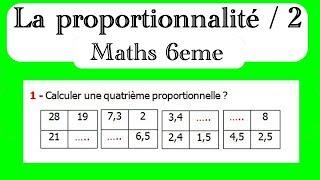Maths 6ème - La proportionnalité 2 Exercice 6