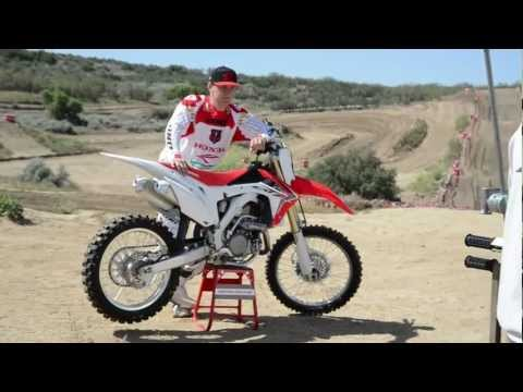 crf - The 2013 CRF 450R, which features Kayaba air-sprung forks, twin pipes and a brand new full mass-centralised chassis along with many other refinements, is the...