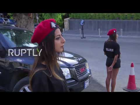 Lebanon: Female police officers in shorts