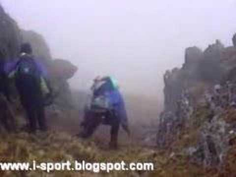 Downhill hiking