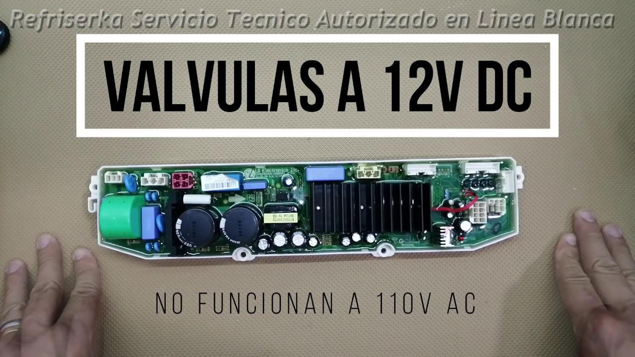 Reparacion de Tarjeta Inverter de Lavadora Lg Falla en Electrovalvulas de Llenado | Refriserka - YouTube