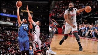 James Harden & Karl-Anthony Towns Duel in High Scoring Game between Rockets & T'Wolves by NBA