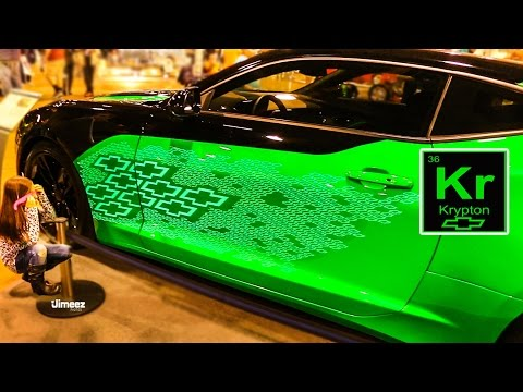 ELECTROLUMINESCENT PAINT! KRYPTON '16 CAMARO CONCEPT! FACTORY OPTIONS! '16 CHICAGO WORLD OF WHEELS!