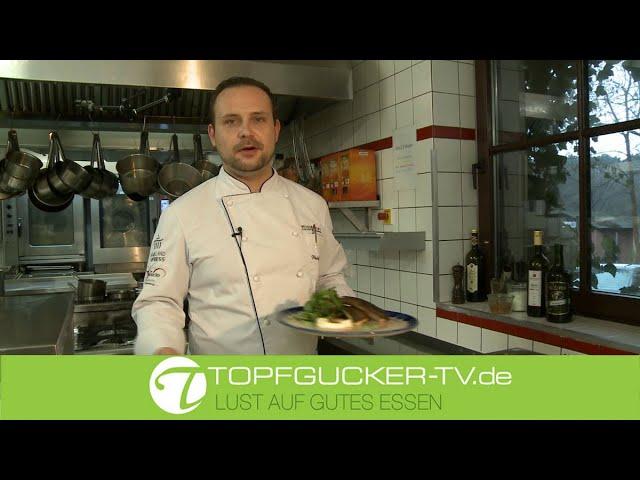Forelle auf lauwarmen Bamberger Kartoffelsalat mit Meerrettich u. Wildkräutern