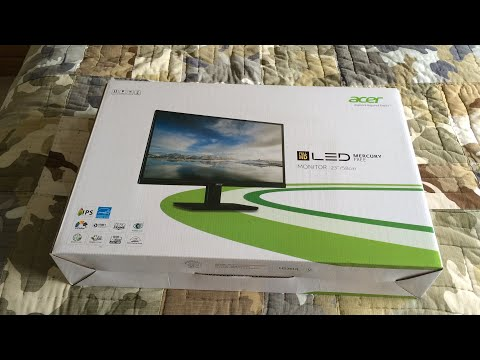 Acer - 23 in. IPS LED 1080p Monitor Unboxing and Review