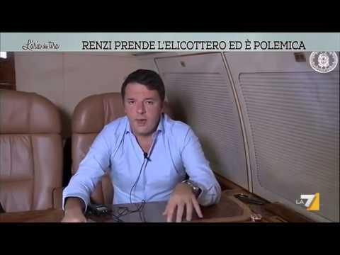 renzi prende l'elicottero (8400 euro l'ora) ed è polemica