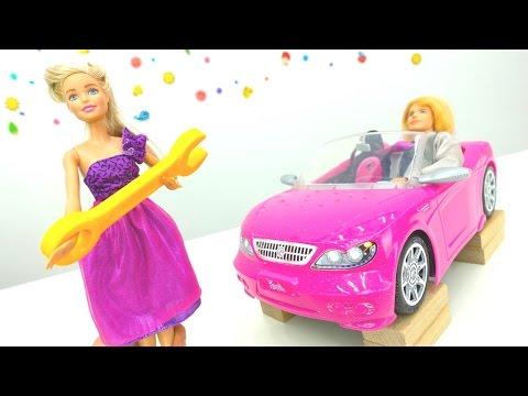 Игрушки для девочек от МАМЫ И ДОЧКИ! Видео БАРБИ. Барби и Кен ремонтируют розовую машину! (видео)