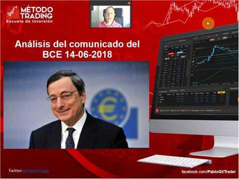 Análisis del comunicado del BCE del 14/06/2018 I Pablo Gil (видео)