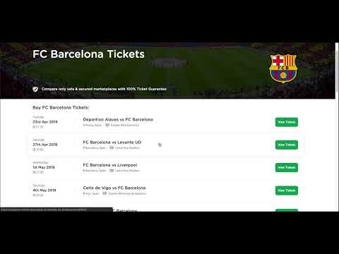 How To Buy Tickets To FC Barcelona