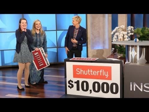 surprise - Ellen called down two roommates to play