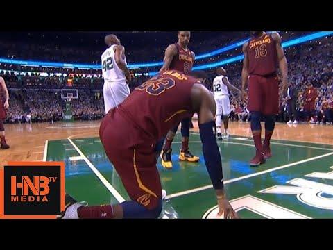 Jayson Tatum hard foul on LeBron James / Cavaliers vs Celtics Game 2