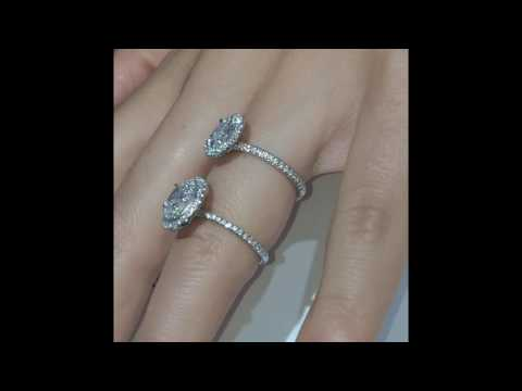 Oval Diamond Halo Engagement Rings Comparison