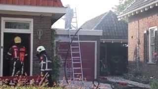 Woningschade bij middelgrote brand Wirdum