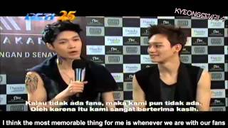 Video [ENG SUB] 140916 EXO THE LOST PLANET in Jakarta Interview and Ending CUT MP3, 3GP, MP4, WEBM, AVI, FLV Desember 2017