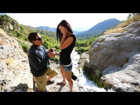 Drops the Ring off a Waterfall While Proposing!