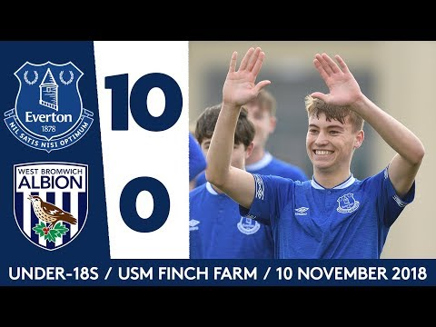 Video: 10-NIL! | ALL THE GOALS: EVERTON U18 V WEST BROM U18