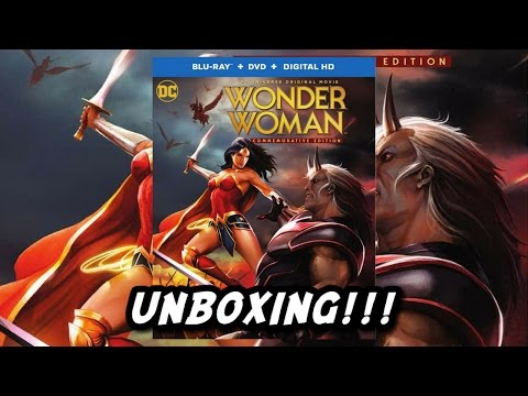 Wonder Woman Commemorative Edition Blu Ray UNBOXING!!!