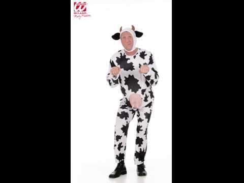 Déguisement de vache avec combinaison et casque